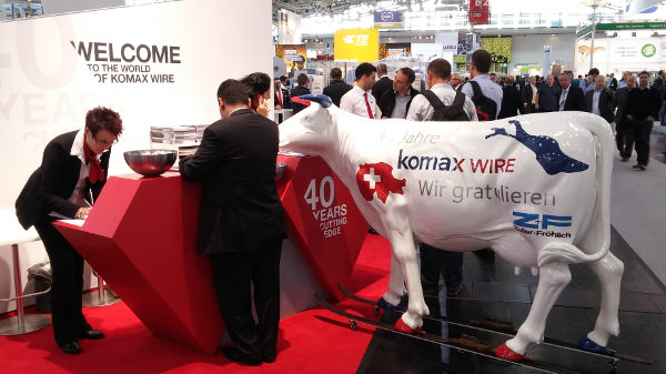 Laselec and Komax Wire at Productronica Munich