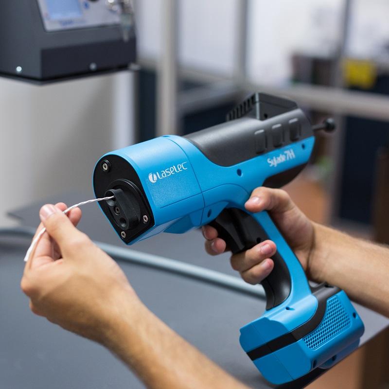 Portable laser wire stripper Laselec Laser wire
